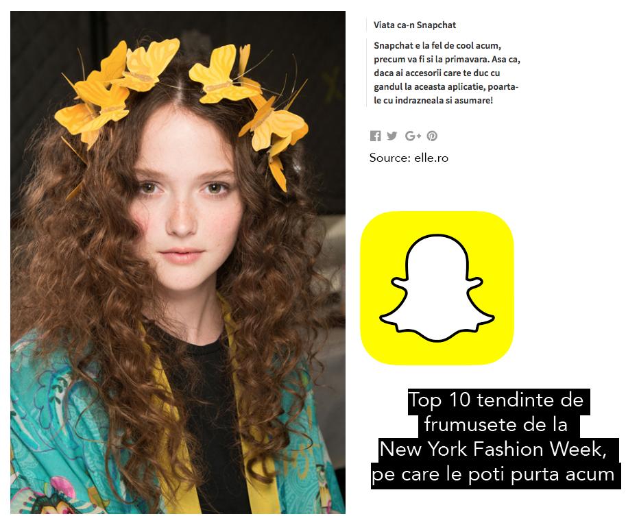 Filtrul de Snapchat #ButterflyCrown devine realitate
